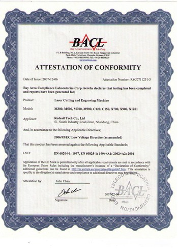 CE Certificate (Low Voltage Directive)